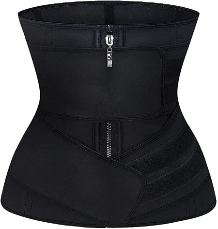 ASHLONE Latex Waist Trainer Corset Underbust Sport Cincher Womens Workout Body Shaper