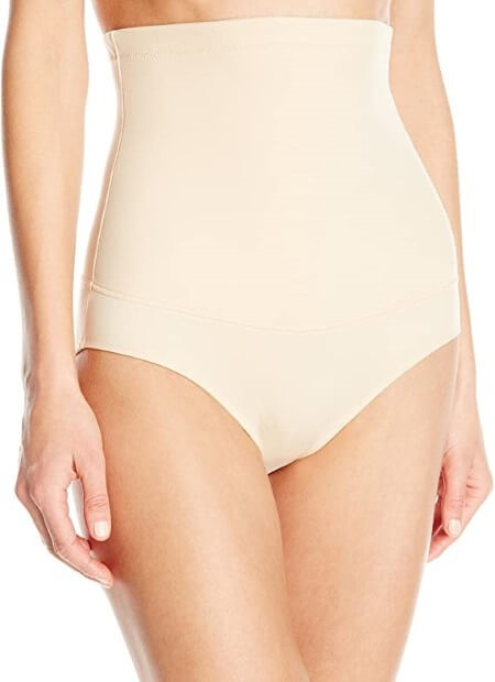 Maidenform Flexees Womens Shapewear Hi-Waist Brief Firm Control