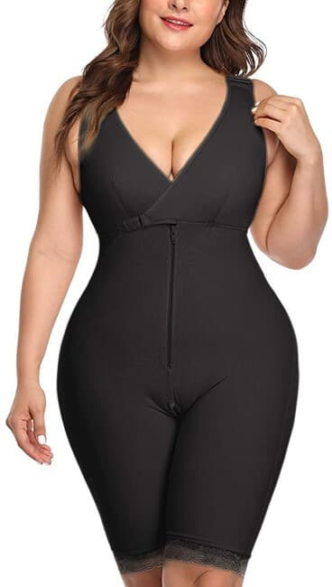 NonEcho Women Full Body Shapewear Open-Bust Underwear Waist Trainer Corset Seamless Slimming Bodysuit Butt Lifter Plus Size