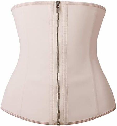 YIANNA Women Latex Underbust Waist Training Corsets Cincher Zip&Hook Hourglass Body Shaper