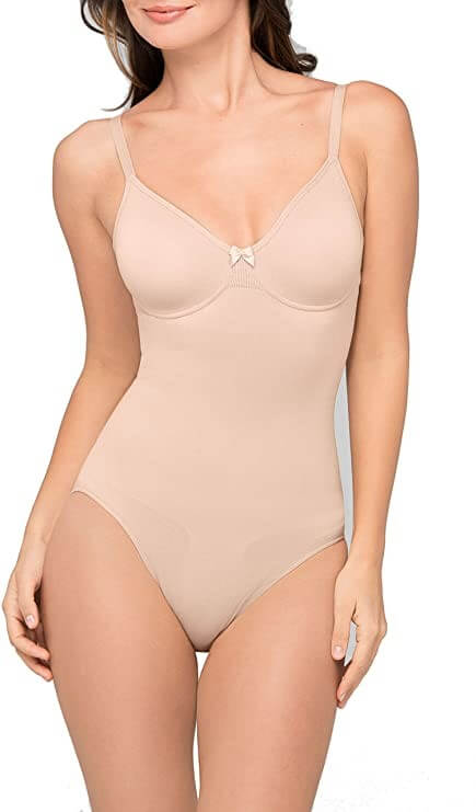 Body Wrap Women Underwire Soft Cup Bodysuit Shapewear