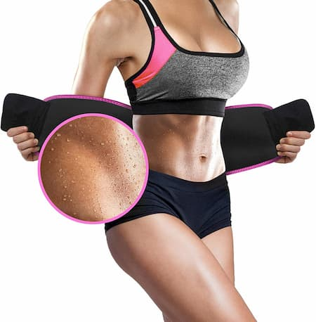 Perfotek Waist Trimmer Belt, Sweat Wrap, Low Back and Lumbar Support with Sauna Suit Effect, Abdominal Trainer